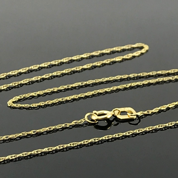 Real Gold Round Cable Chain (45 C.M)