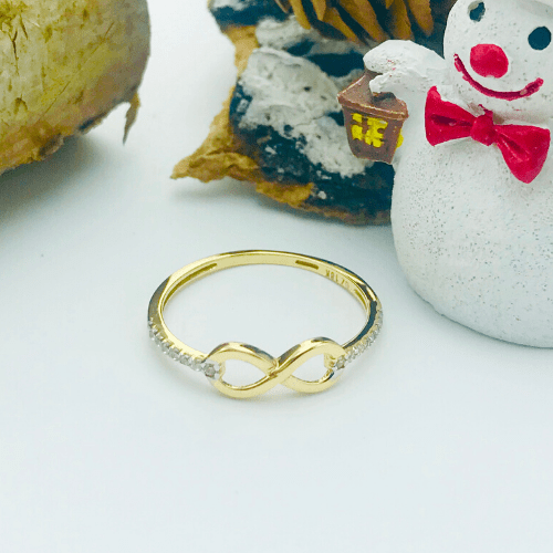 Real Gold Infinity Ring 008 (SIZE 6)