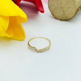 Real Gold Ring 999 (SIZE 6.5) - 18K Gold Jewelry