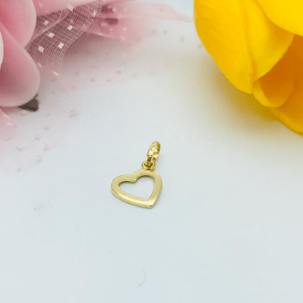 Real Gold Heart Pendant 2020-002