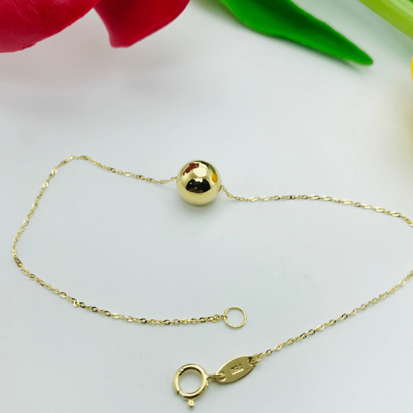 Real Gold Bigger Ball Seed Bracelet - 18k Gold Jewelry