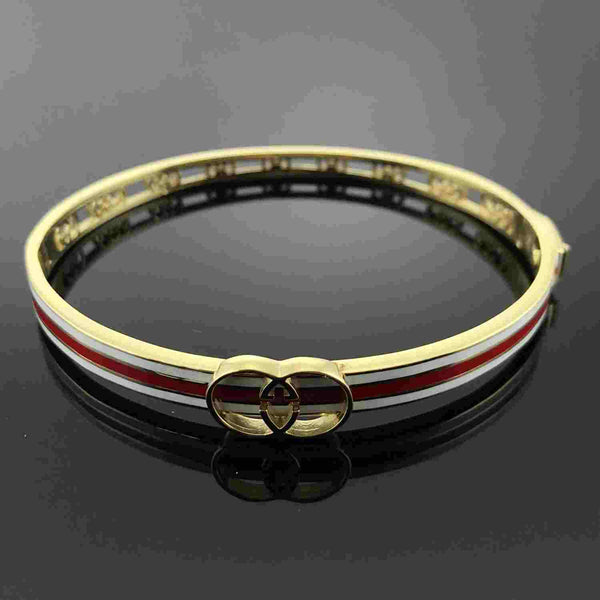 Real Gold W+R Bangle