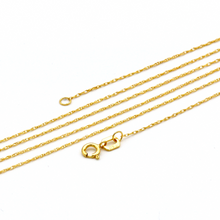 Real Gold Maze Hoop Necklace 2049 - 18K Gold Jewelry