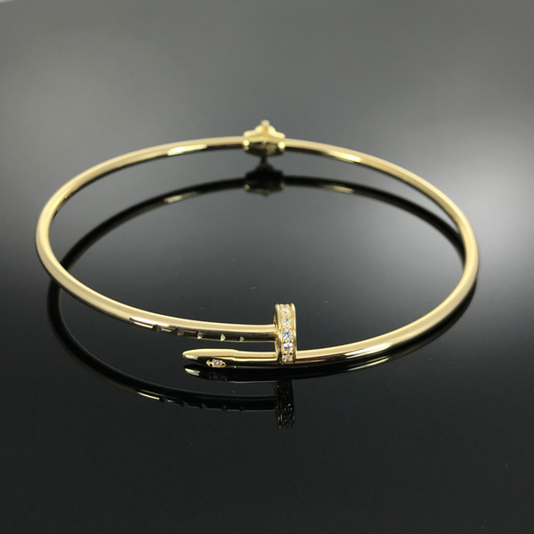 Real Gold CR Bangle 14 - 18k Gold Jewelry