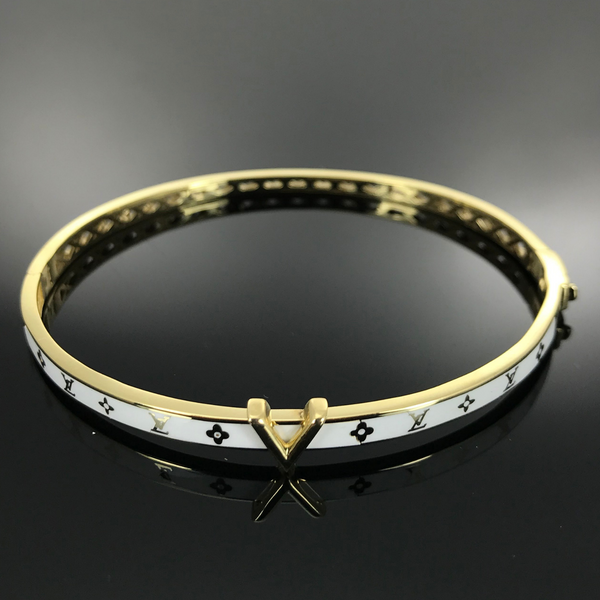 Real Gold Bangle GZBL 18 - 18k Gold Jewelry
