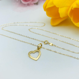 Real Gold Heart Necklace 2020-002