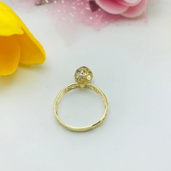 Real Gold 3C Ring 2020-B (SIZE 6) - 18K Gold Jewelry