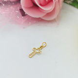 Real Gold Small Fine Cross Pendant 01 2020