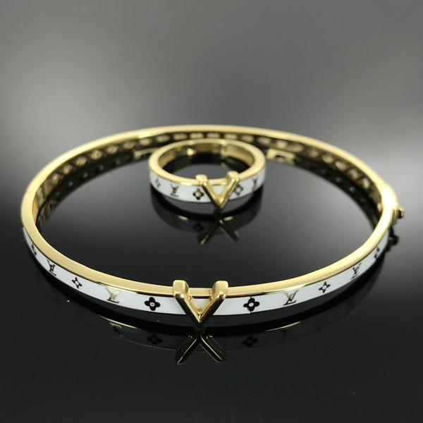 Real Gold Bangle GZBL18 With Ring