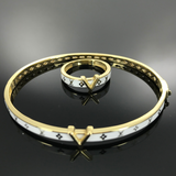 Real Gold Bangle GZBL 18 With Ring - 18k Gold Jewelry