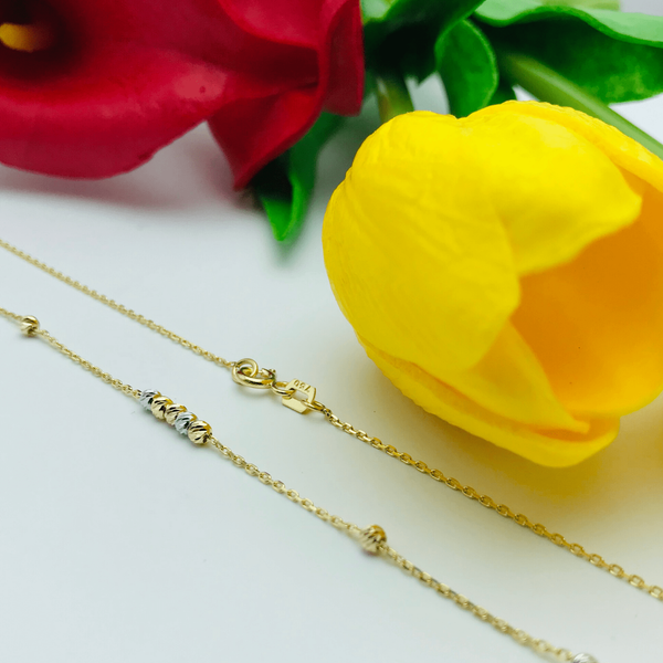 Real Gold Ball Necklace (3 Colors) - 18k Gold Jewelry