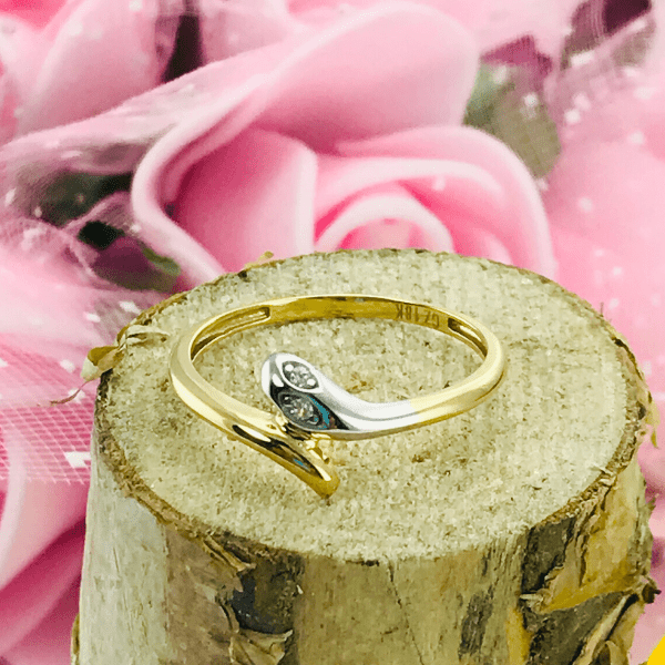 Real Gold Ring 0782 (SIZE 5.5) - 18k Gold Jewelry