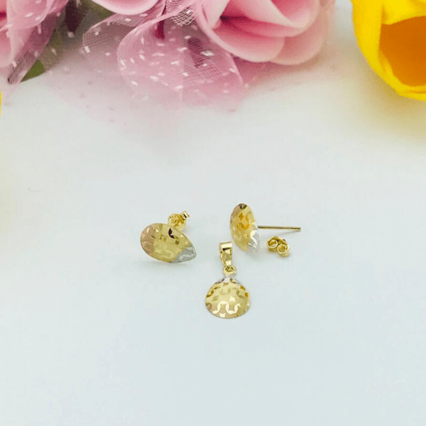 Real Gold Fine Drop 3C Z Earring Set With Pendant 2020 - 18K Gold Jewelry
