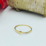 Real Gold Ring 2020-E (SIZE 5.5) - 18K Gold Jewelry