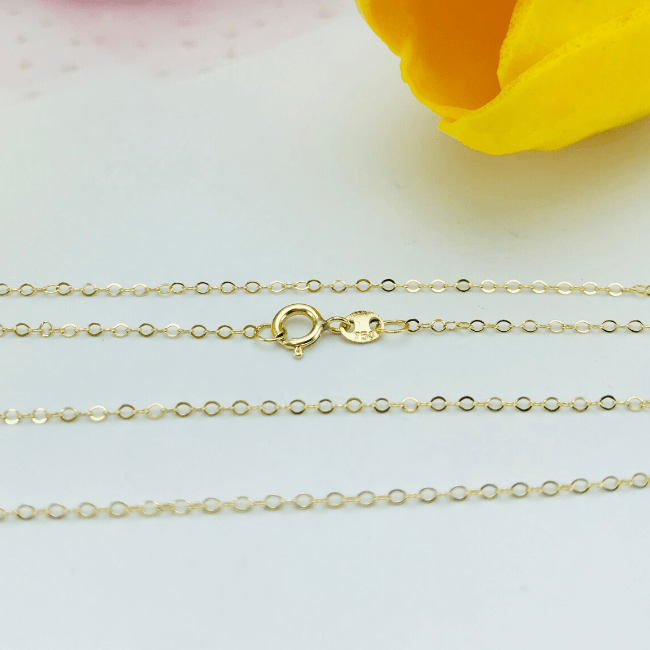 Real Gold Cable Chain 🔥 SPECIAL OFFER 🔥 - 18K Gold Jewelry