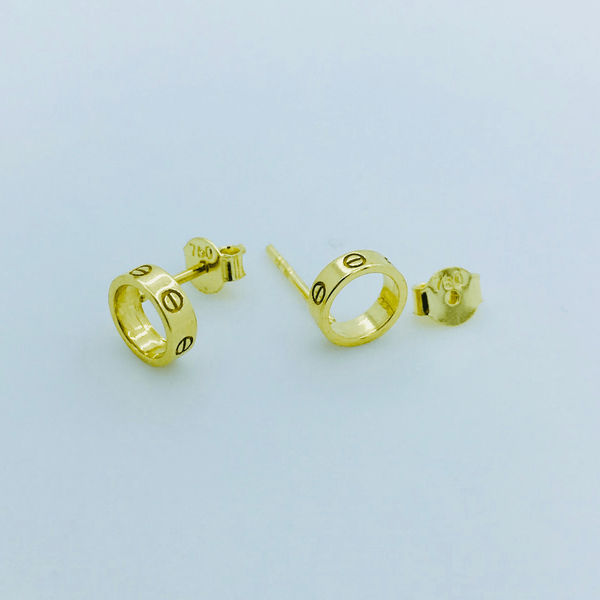 Real Gold CR Earring Set - 18k Gold Jewelry