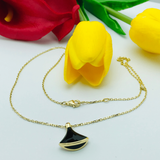 Real Gold Black BL Necklace - 18k Gold Jewelry
