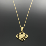 Real Gold Infinity Necklace 002 - 18k Gold Jewelry