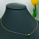Real Gold Movable Glittering Seed Choker Necklace