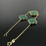 Real Gold 2+1 VC Green Bracelet - 18k Gold Jewelry