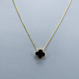 Real Gold VC Black Necklace 001 - 18k Gold Jewelry