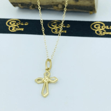 Real Gold Cross Necklace