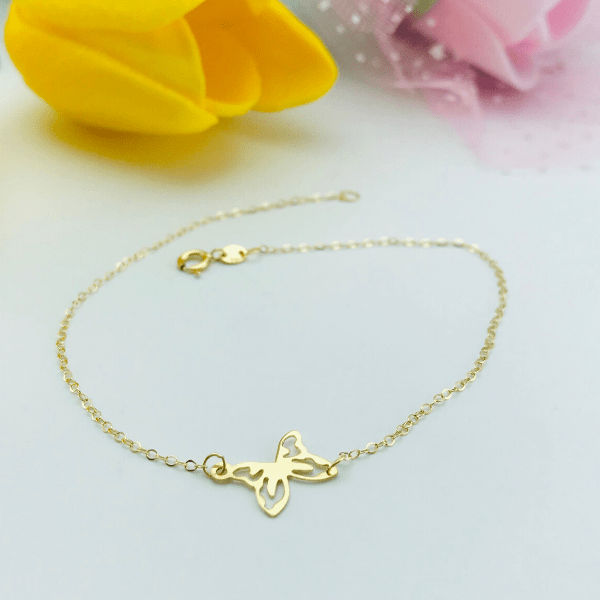 Real Gold Fine Butterfly Bracelet 2020 - 18k Gold Jewelry
