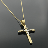 Real Gold 3D Cross Necklace - 18k Gold Jewelry