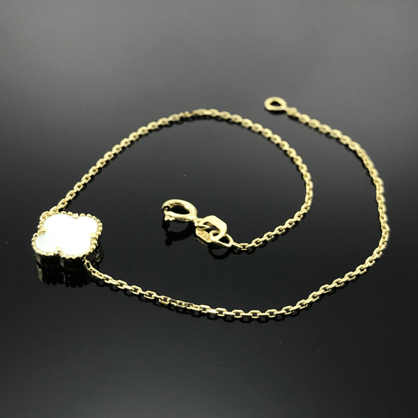 Real Gold VC Pearl Bracelet 001 - 18k Gold Jewelry