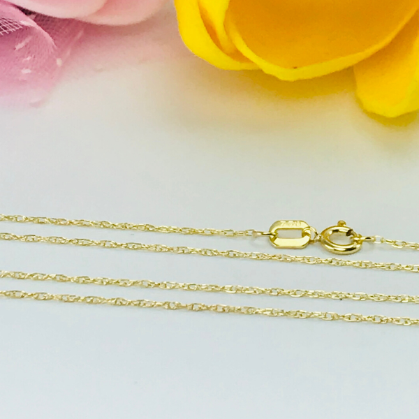 Real Gold Round Cable Chain (45 C.M) - 18k Gold Jewelry