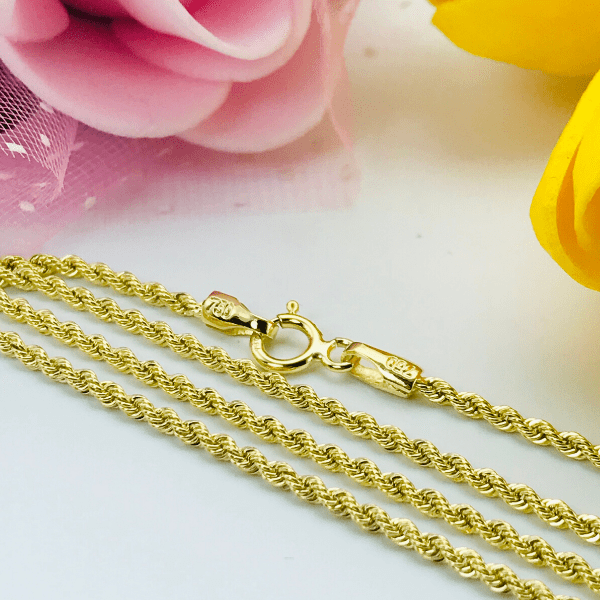 Real Gold Rope Chain (45 C.M) 2597 - 18k Gold Jewelry