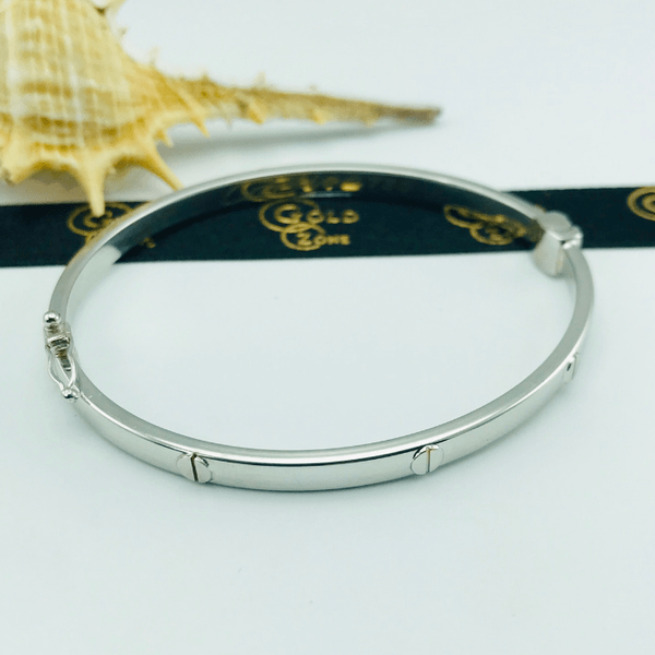 Real Gold CR White Bangle BA1135