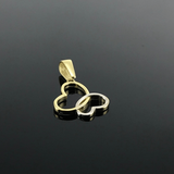 Real Gold 2 Color Butterfly Pendant 002 - 18K Gold Jewelry