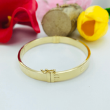 Real Gold CR Bangle Yellow 2020-A - 18K Gold Jewelry