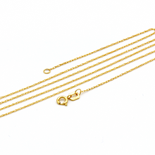 Real Gold Plain Cross Necklace 3434 CWP 1656 - 18K Gold Jewelry