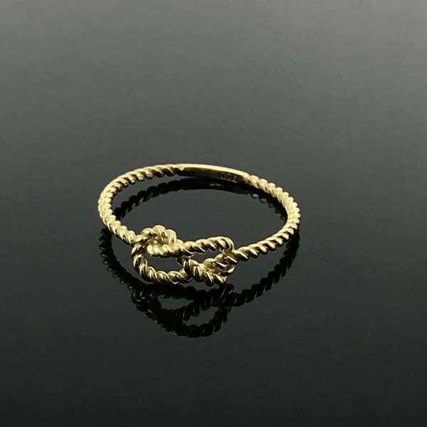 Real Gold Knot Ring (SIZE 5.5) - 18k Gold Jewelry
