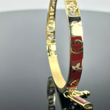 Real Gold Bangle GZBL 23 - 18k Gold Jewelry