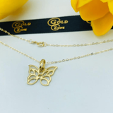 Real Gold Butterfly Necklace - 18K Gold Jewelry