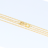 Real Gold Anchor Sharp Necklace CWP1521 - 18K Gold Jewelry