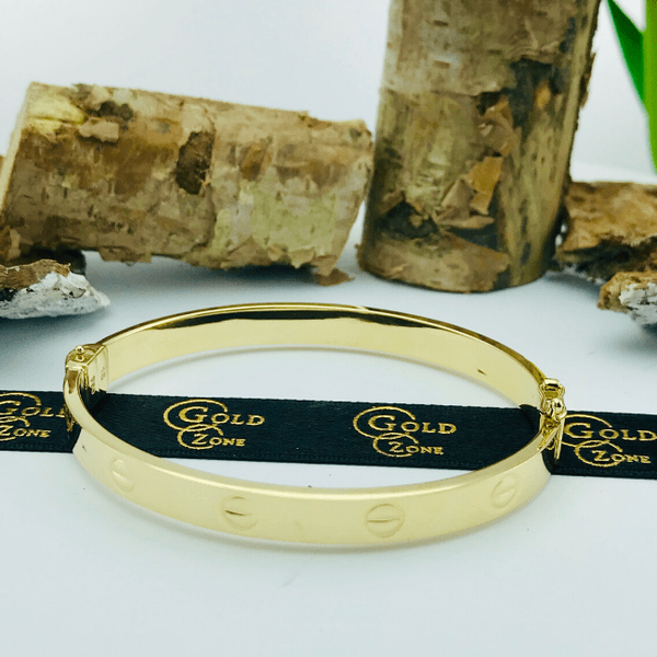 Real Gold CR Bangle Yellow 2020-K - 18K Gold Jewelry