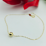 Real Gold Ball Seed Bracelet 003 - 18K Gold Jewelry