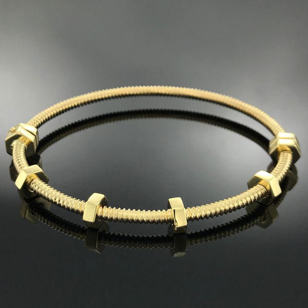 Real Gold Bangle GZBL 10 - 18k Gold Jewelry