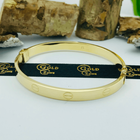 Real Gold CR Bangle Yellow 2020-L - 18K Gold Jewelry