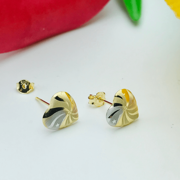 Real Gold Fan 3 Color Earring Set - 18k Gold Jewelry