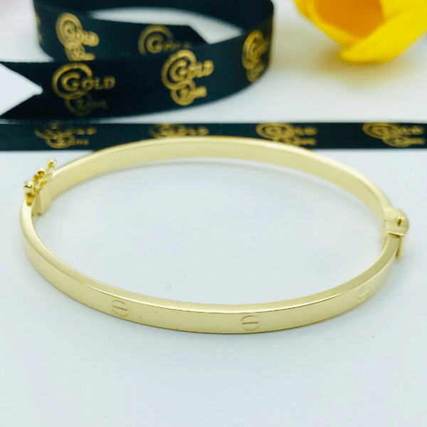 Real Gold CR Bangle Yellow 2020-G - 18K Gold Jewelry