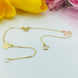 Real Gold 3 Color Butterfly Bracelet 4065 - 18k Gold Jewelry