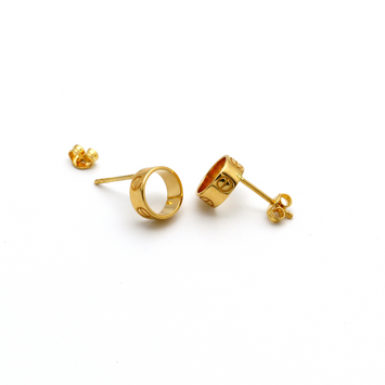 Real Gold CR Earring Set E1384 - 18K Gold Jewelry