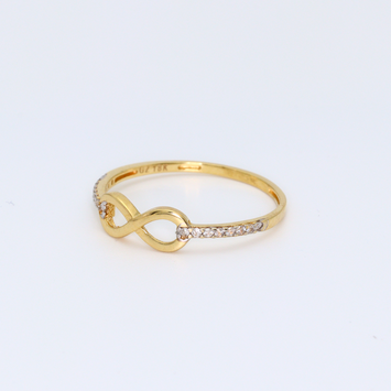Real Gold Infinity Stone Ring 0050 (SIZE 7)