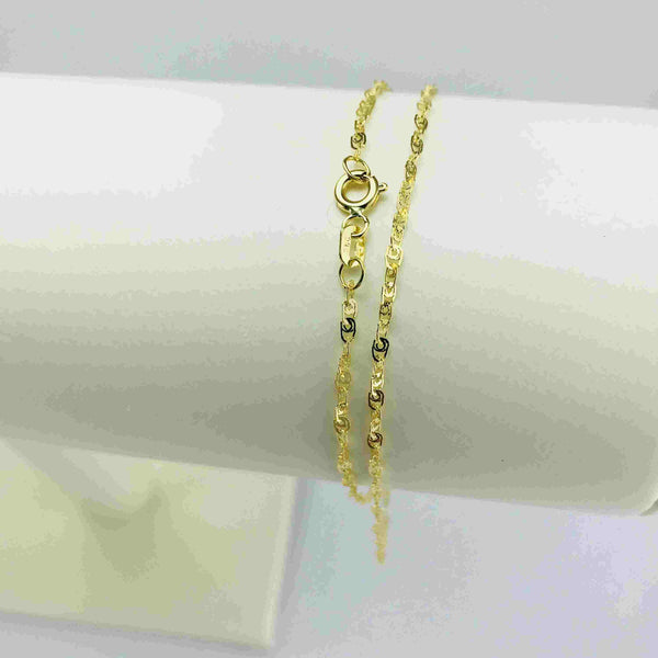 Real Gold Glittering T Chain (40 c.m)