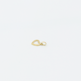 Real Gold Side Hook Heart Pendant P1572 - 18K Gold Jewelry